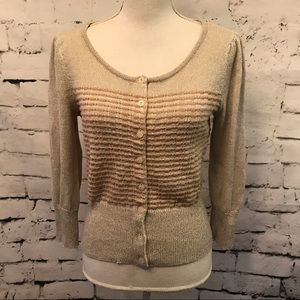 Urban Outfitters Glitter Button Down Cardigan SZ M